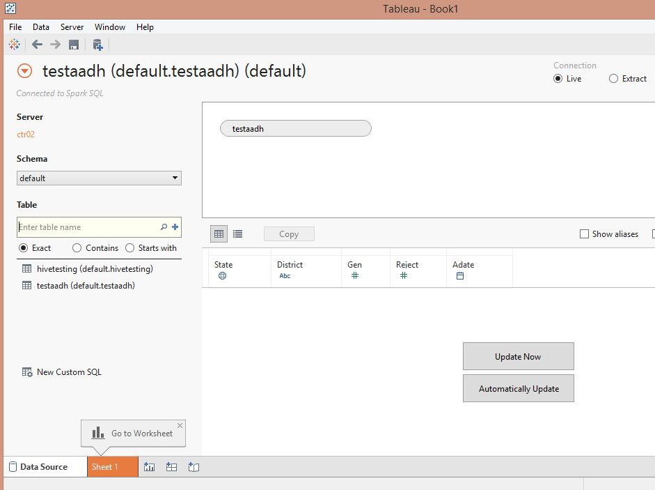 Setup Tableau with Apache Spark - A Hitchhiker's Guide